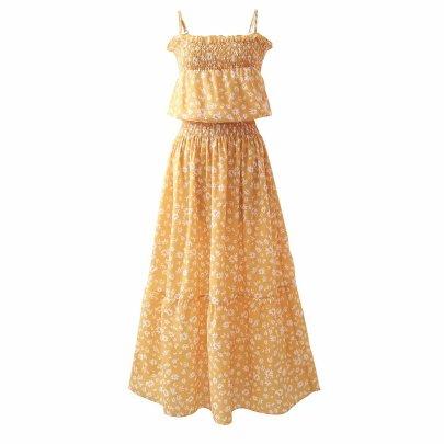 Spring Collection Waist Suspender Large Swing Dress NSAM56904