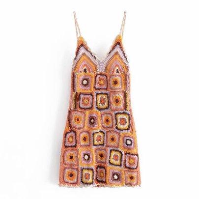 Fashion Crochet Sling Dress NSAM56911