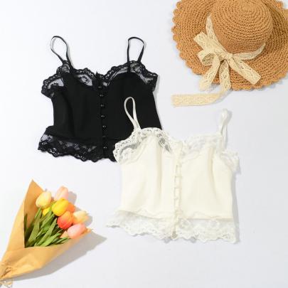 New Small Lace Sling Bottom Vest NSYAY56973
