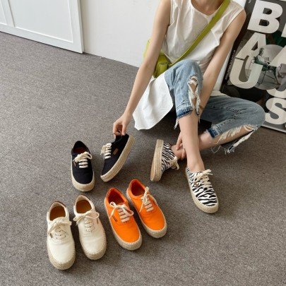 Spring And Summer New Thick-soled Casual Retro Canvas Shoes NSHU57020