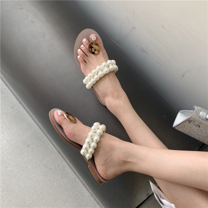 Summer New Fashion Beach Holiday Style Pearl Sandals NSHU57028