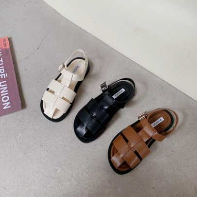 New Summer Thick-soled Toe Flat Casual Roman Shoes NSHU57031