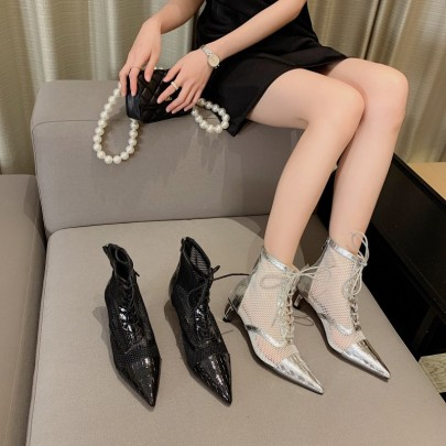 Spring And Summer New Pointed Toe Short Boots  NSHU57046