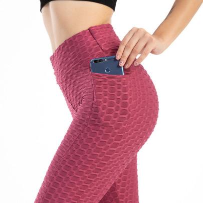 Spring And Summer New Fashion Pocket Bubble Yoga Pants NSYIS57170