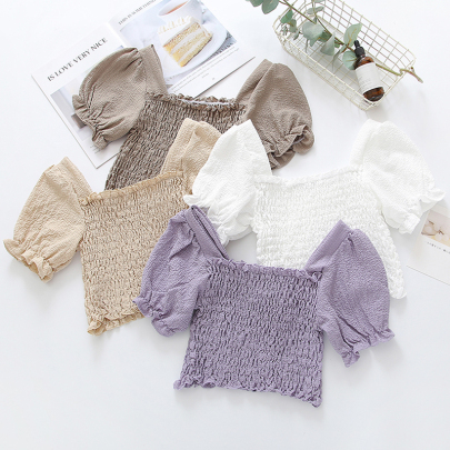 Summer New Style Square Neck Elastic Thin Top NSYID57146