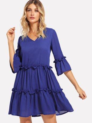 Spring And Autumn New High-end Slim Temperament Letter Dress NSLIB57127