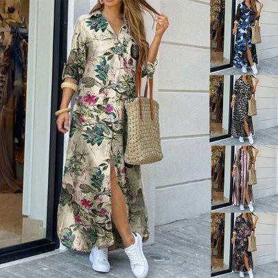 New Fashion Long Sleeve Shirt Dress NSJC57094