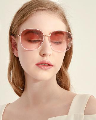 Big Face Retro Frame Full Frame Beach Sunglasses NSXU57264