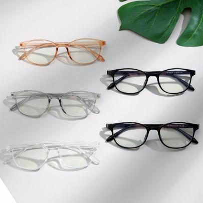 Transparent Blue Light Full Frame Big Face Retro Glasses NSXU57271