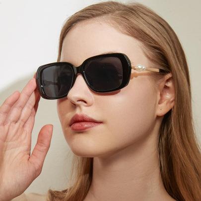 New Big Square Pearl Retro Sunglasses NSXU57273