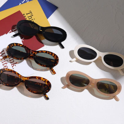 Oval New Fashion  Retro Sunglasses NSXU57275