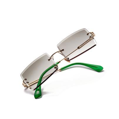 Square Frameless Retro Trim Transparent Glasses NSXU57277