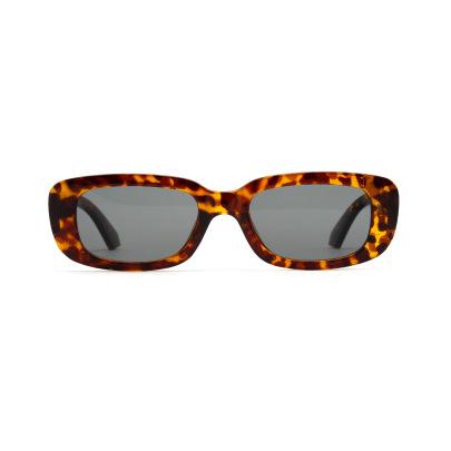 Small Square Frame Tortoiseshell Retro Leopard Print Sunglasses NSXU57280