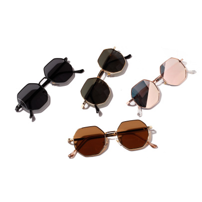 Round Retro Metal Prince Mirror Small Frame Sunglasses  NSXU57282