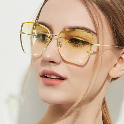 Big Frame New Retro Ocean Transparent Color Lens Glasses NSXU57283