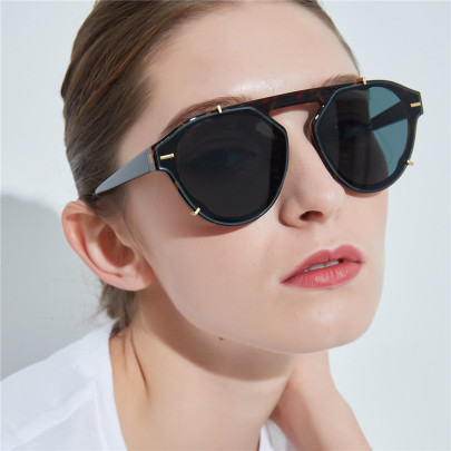 New Retro Round Toad Mirror Big Frame Sunglasses NSXU57284