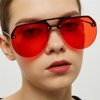 Big Frame Half Frame Hip-hop Retro Glasses NSXU57290