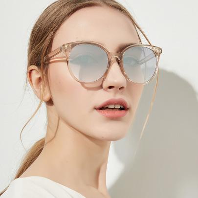 Round Retro Transparent Frame Glasses NSXU57293