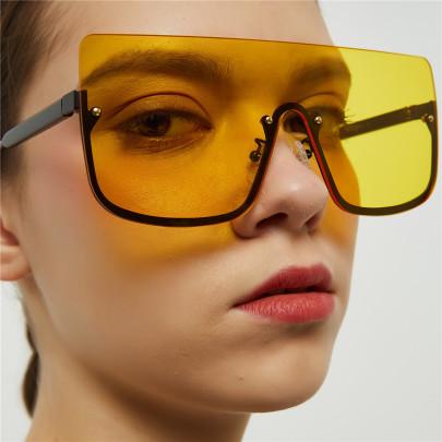 Retro Half-frame Hip-hop Sunglasses NSXU57296