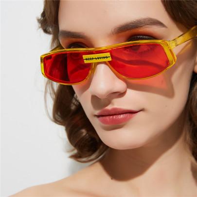 Super Red Sunglasses Female Retro Frame Sunglasses  NSXU57297