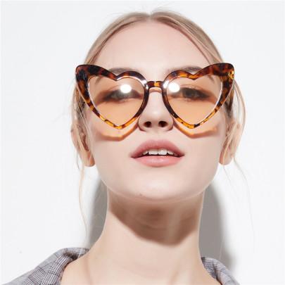 Pink Love Sunglasses Big Peach Heart Sunglasses  NSXU57298