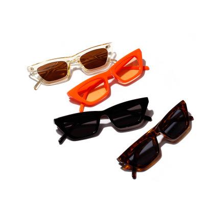 Small Square Orange Jelly Color Sunglasses NSXU57299