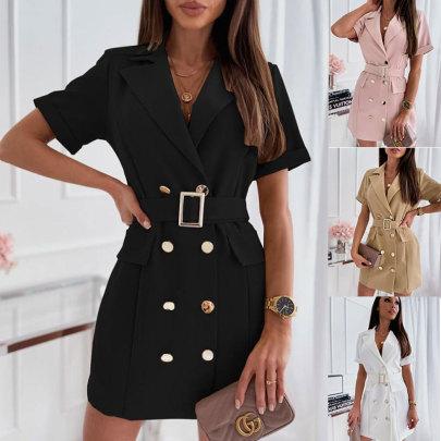 New Fashion Waist Button Decoration Suit Dress NSJC57341