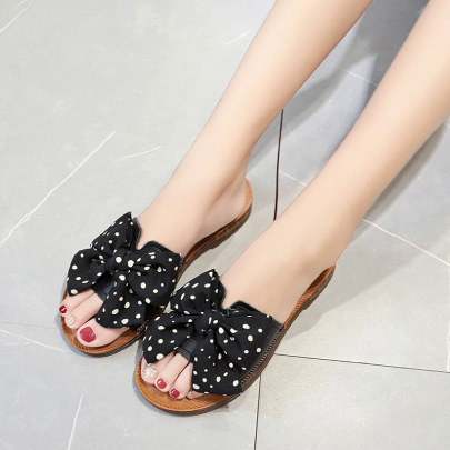 Bow Soft Bottom Comfortable Slippers NSZSC57547