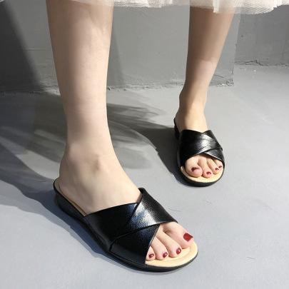 Fashion Solid Color Wedge Sandals  NSZSC57594