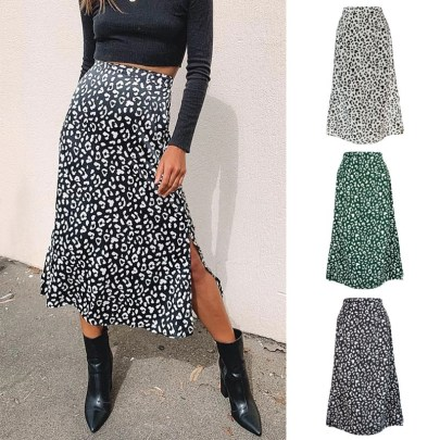 Fashion Leopard Print Skirt NSYKD57626