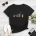 Round neck succulent family portrait print short-sleeved T-shirt NSYAY57675