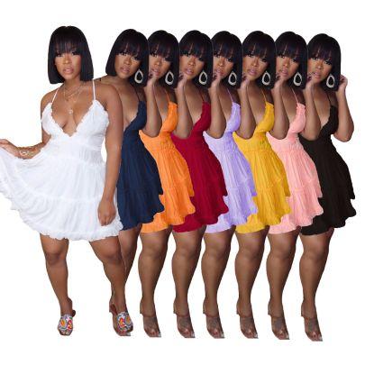 New Fashion Sexy Sleeveless Short Doll Skirt NSALI57758