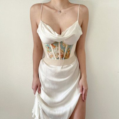 Temperament Commuter Slim Lace Long Dress NSFLY57775