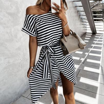 Summer Fashion Striped Bow Sexy Dress NSJIN57898