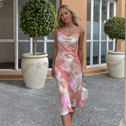 New Summer Print Suspenderhalter Fashion Casual Dress NSJYF57936