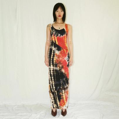New Pencil Sleeveless Mid-length Print Sexy Slim Dress NSJYF57979