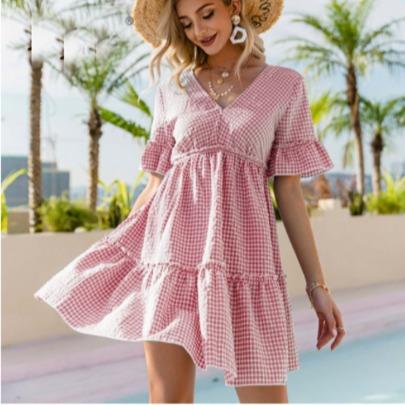 Fashion V-neck Loose Dress NSCX58113