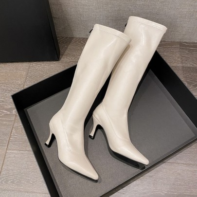 New Pointed High Heel Stovepipe Knight Boots NSHU58226