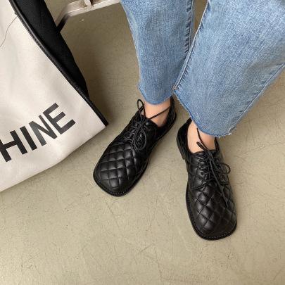 Autumn New Fashion Flat Bottom Square Toe Shoes NSHU58271