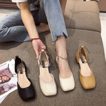 New Summer Square Toe Shoes NSHU58274