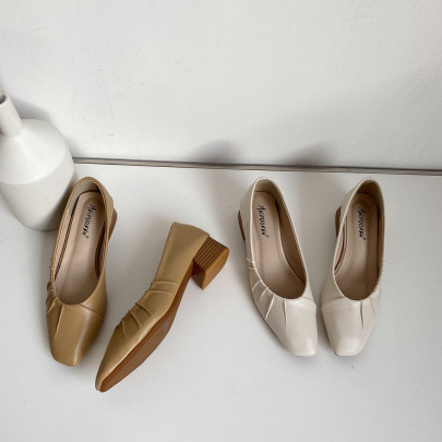 Spring And Autumn New Style Thick Heel Single Shoes NSHU58280