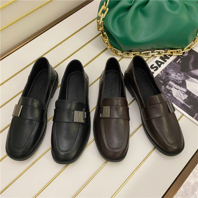 Spring And Autumn New Flat Small Leather Shoes NSHU58287