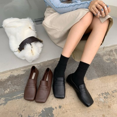 Autumn New Fashion Soft Leather Single Shoes NSHU58314