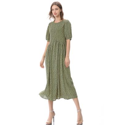 Short Sleeve Backless Loose Long Skirt NSLIB58462