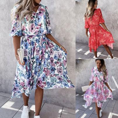 Summer New Flower Comfortable Dress NSJC58456