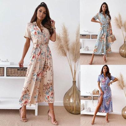 Summer New Flower Printed Dress NSJC58455