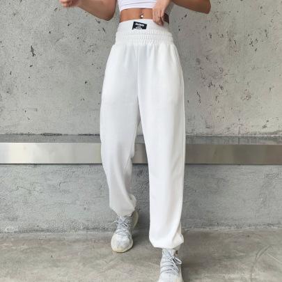 Autumn Double-waist High-waist Sports Pants NSXE58576