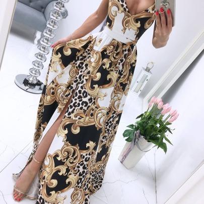 New Printed Wide Hem Dress  NSAXE58641