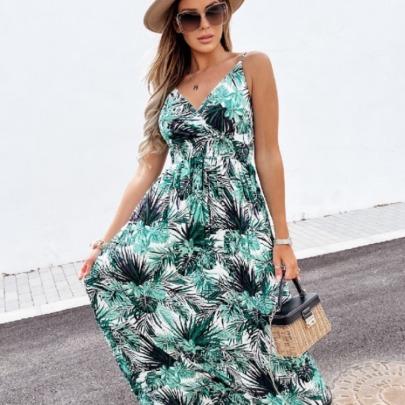 New Fashion Print Suspender Dress NSAXE58645