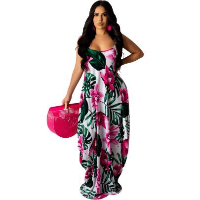 Fashion Hanging Wide Loose Long Skirt NSSJW58672